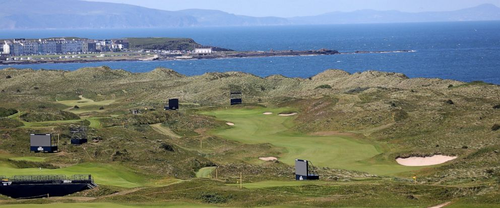 The Dunluce Links course at Royal Portrush Golf Club, Northern Ireland, Saturday, July 6, 2019. The Open Golf Championship will be played at Royal Portrush marking a historic return to Northern Ireland after it was last played there in 1951. (AP Phot