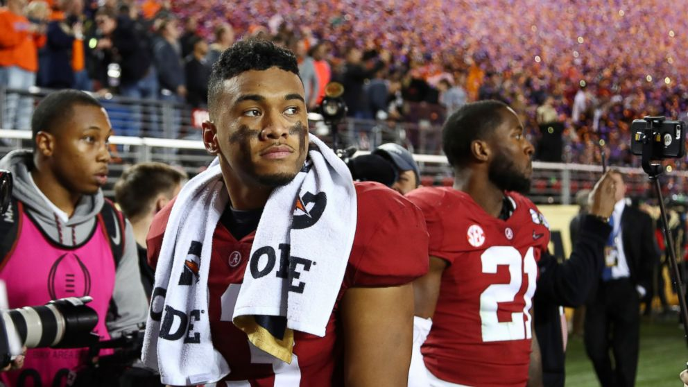 Image result for alabama loses to clemson january 7 2019