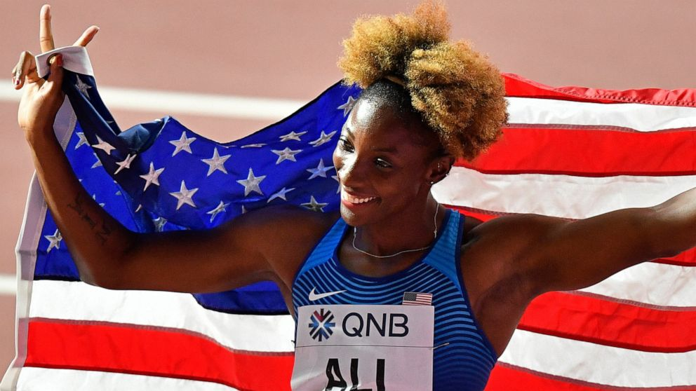 Mommy's medal: Mother of 2 closes worlds with hurdles title