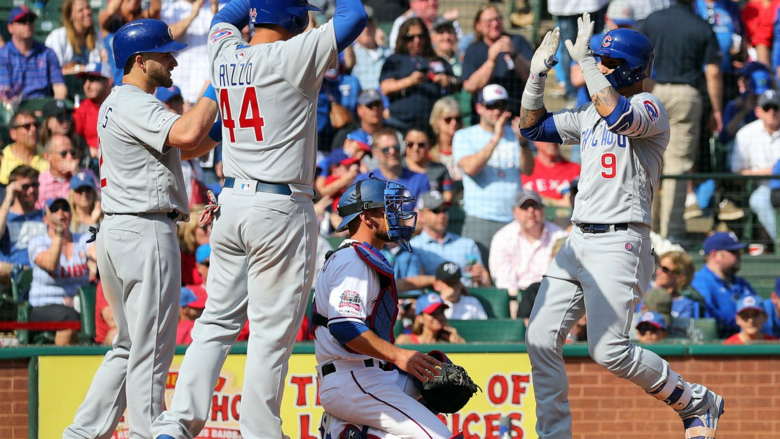 Baez Hits 2 Hrs As Cubs Open Season With 12 4 Win At Rangers