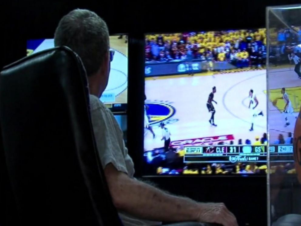 PHOTO: Larry Weiser, age 69, is the Cleveland Cavaliers longest-running season ticket holder.