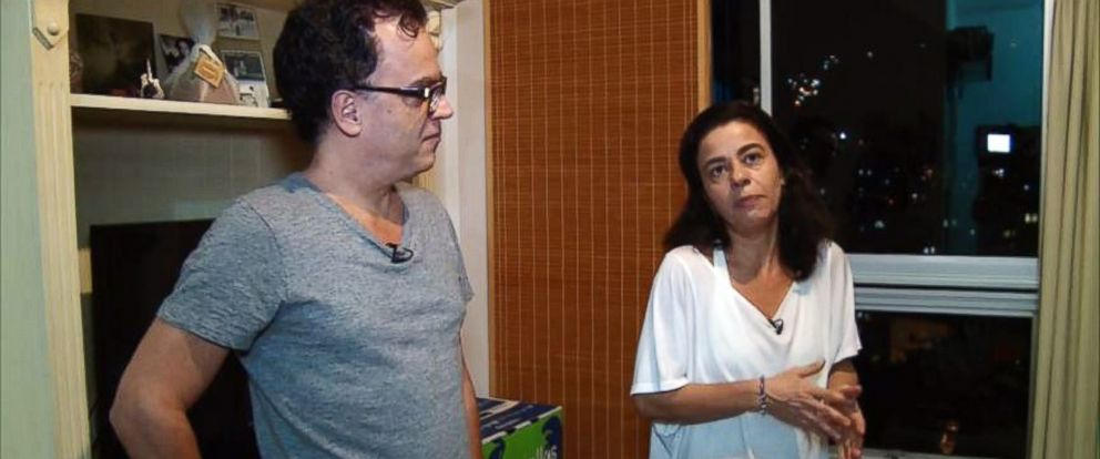PHOTO: Marcos Nabuco and Karla Matos of Rio de Janeiro said that stress from the citys preparations leading up to this years World Cup opening drove them to leave for Chile for two weeks.