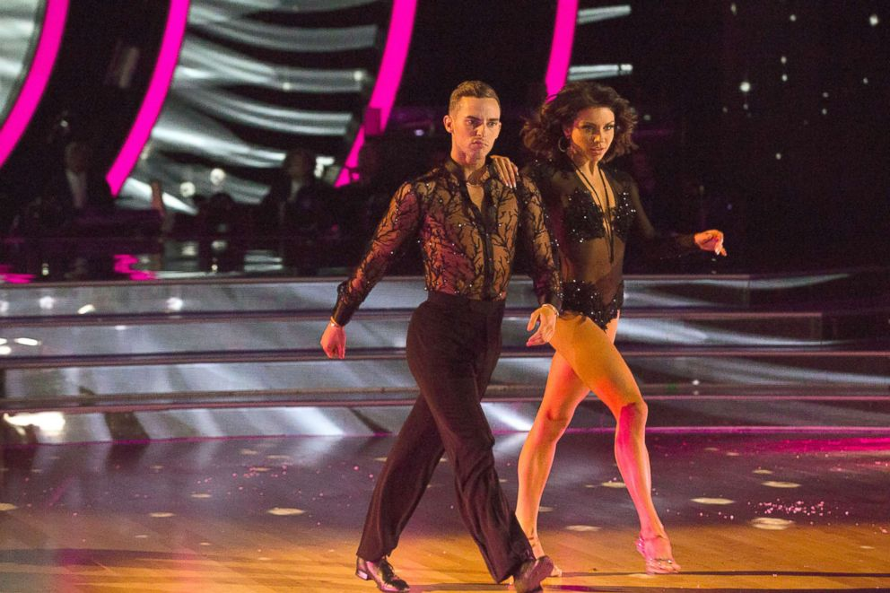 PHOTO: Adam Rippon and his partner Jenna Johnson on the season premiere of Dancing with the Stars: Athletes, April 30, 2018