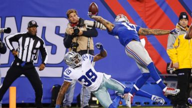 Odell Beckham Jr Made One Of The Greatest Football Catches Ever Abc News