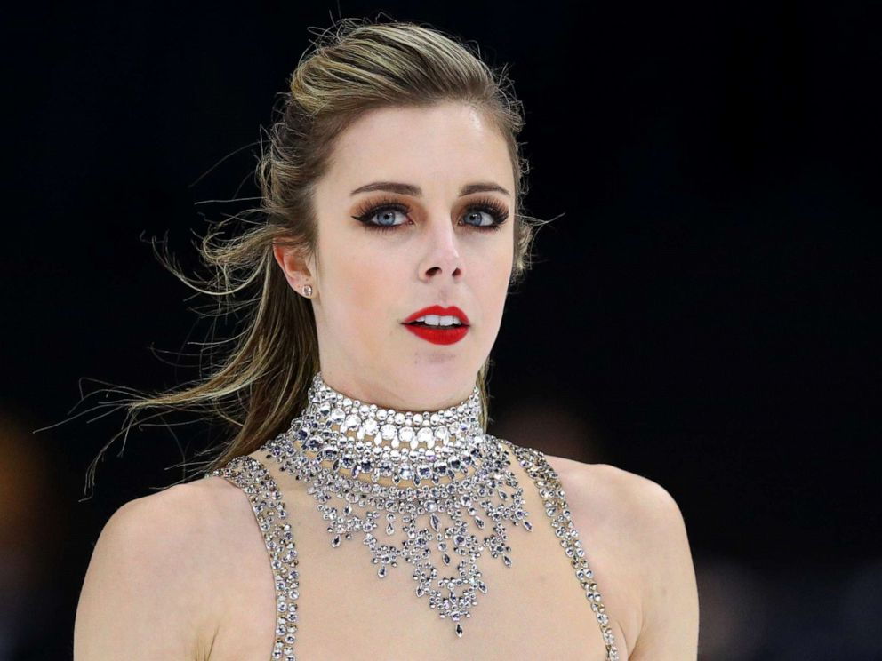 PHOTO: Ashley Wagner of the United States looks on after withdrawing from the Ladies Free Dance program on Day 3 of the ISU Grand Prix of Figure Skating at Herb Brooks Arena on November 26, 2017 in Lake Placid, United States.
