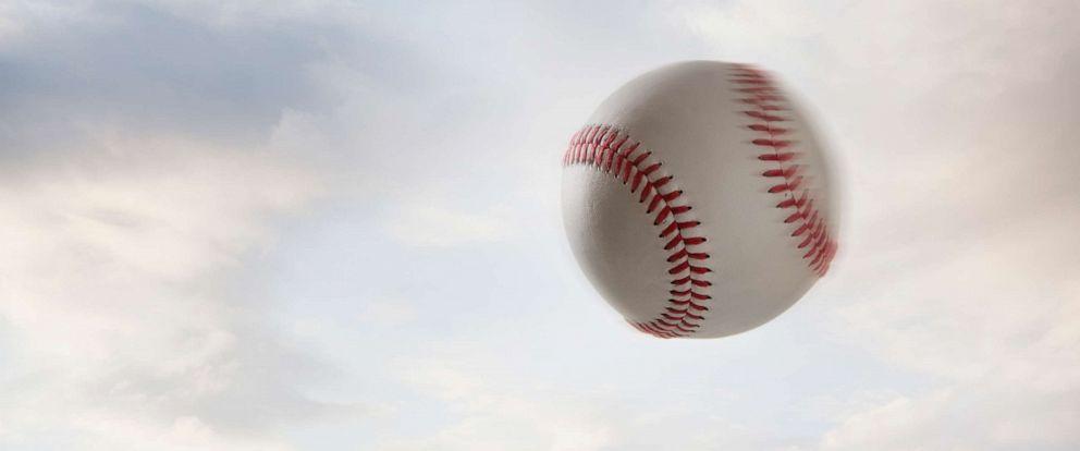 PHOTO: A baseball in the air.