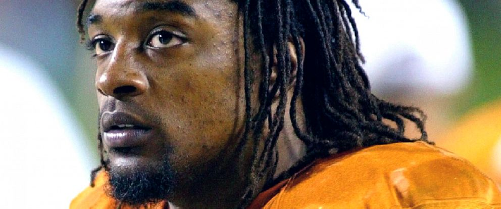 PHOTO: Texas running back Cedric Benson is shown in the bench area during the fourth quarter of his teams 56-35 victory over Oklahoma State in Austin, Texas, Nov. 6, 2004.