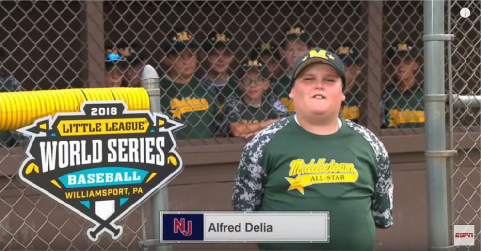 PHOTO: Alfred Big Al Delia as he appeared in a video on ESPNs Sports Center.