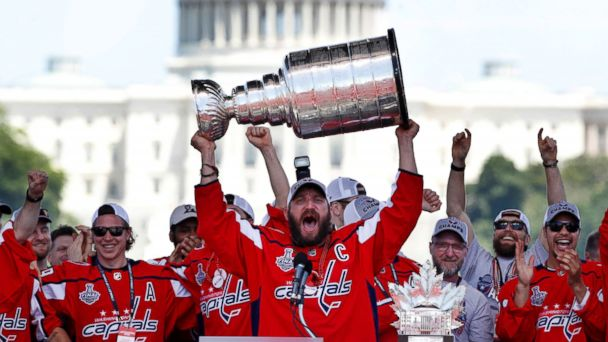 Thousands of fans celebrate the Washington Capitals' 1st Stanley Cup win