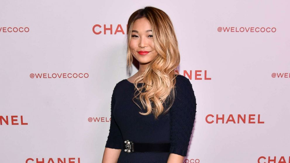 Chloe Kim attends a Chanel Party on Feb. 28, 2018 in Los Angeles.