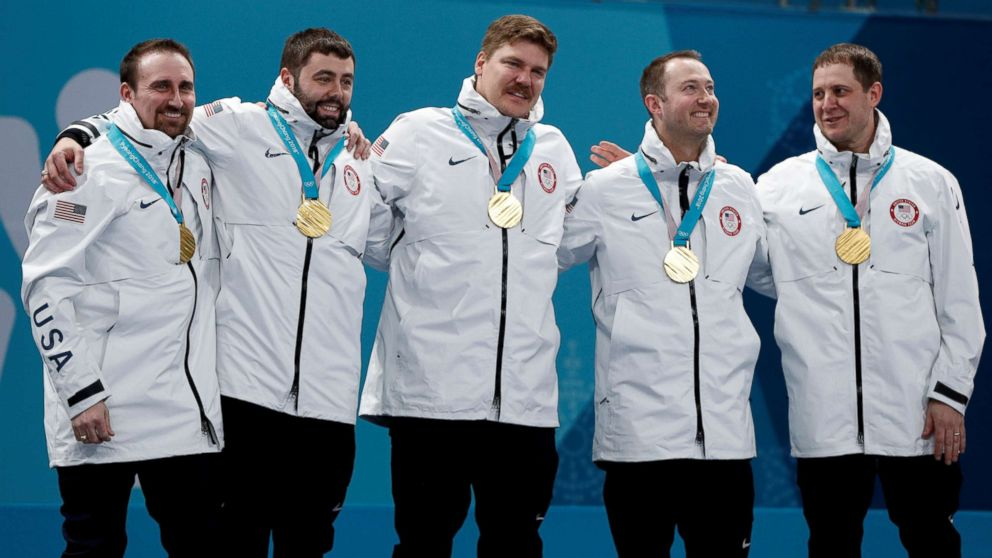 American men's curling team wins gold medal for 1st time ever at