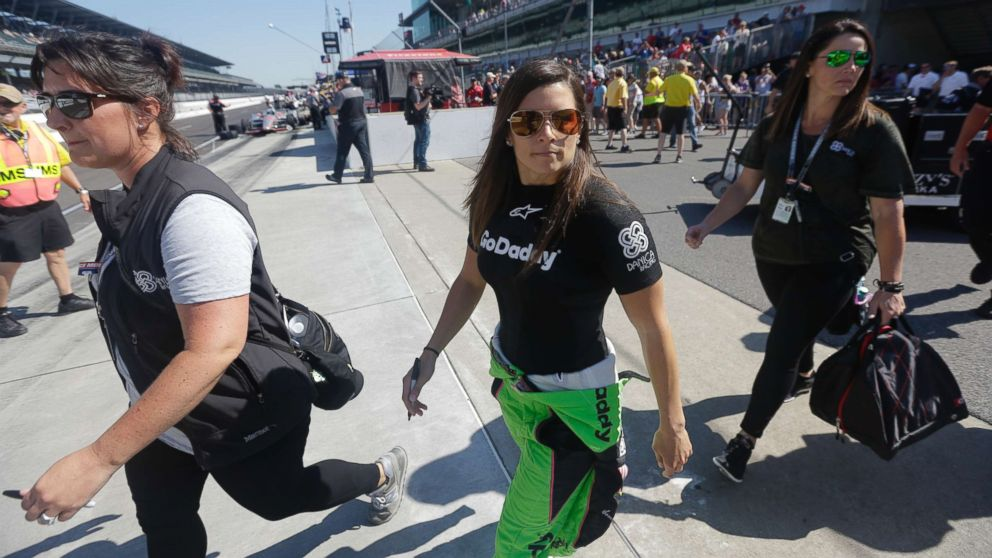 Danica Patrick walks to her car before the start of the final practice session for the IndyCar Indianapolis 500 auto race at Indianapolis Motor Speedway, in Indianapolis, May 25, 2018.