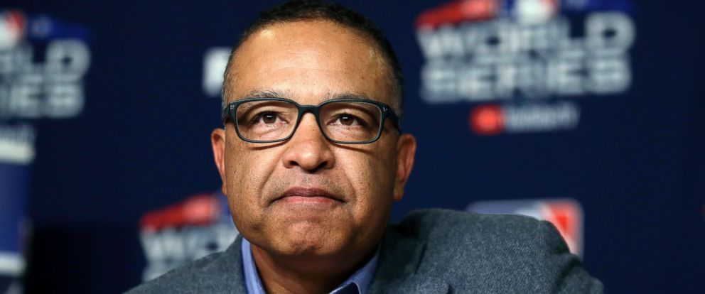 PHOTO: Los Angeles Dodgers manager Dave Roberts listens to questions from the media during a baseball news conference, Thursday, Oct. 25, 2018, in Los Angeles, ahead of Fridays Game 3 of the teams World Series against the Boston Red Sox.