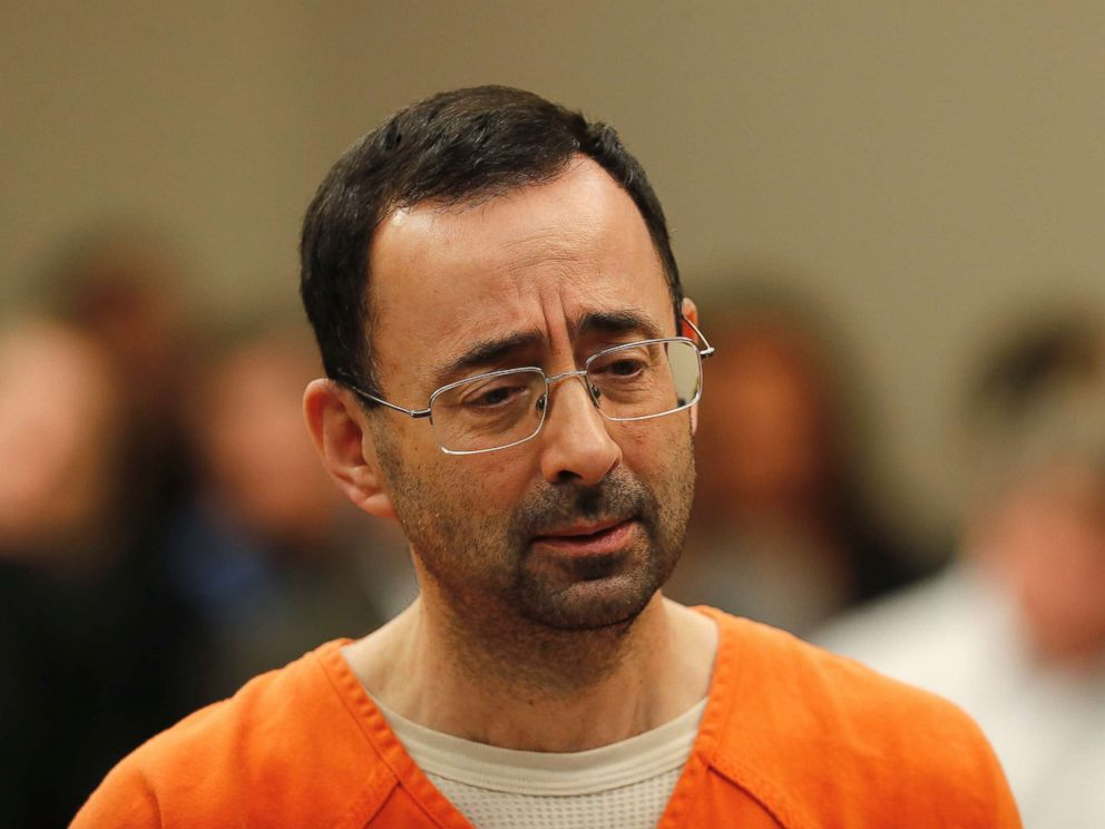 PHOTO: Dr. Larry Nassar, 54, a sports doctor accused of molesting girls while working for USA Gymnastics and Michigan State University, appears in court for a plea hearing in Lansing, Mich., Nov. 22, 2017.
