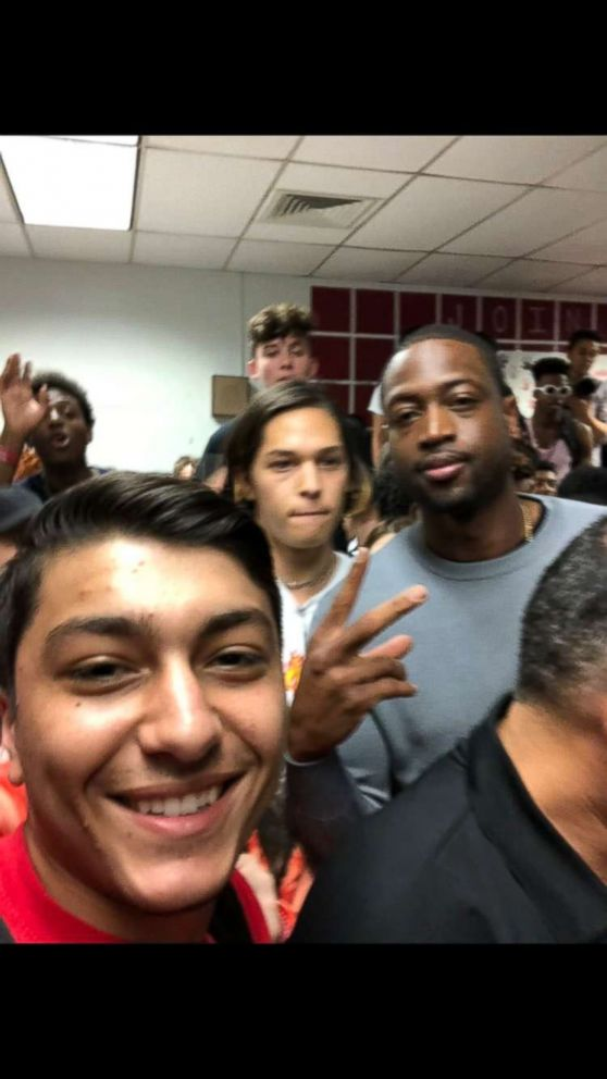 PHOTO: Greatest moment of my life. You're the @DwyaneWade #HeatLifer #MSDstrong #NeverAgain