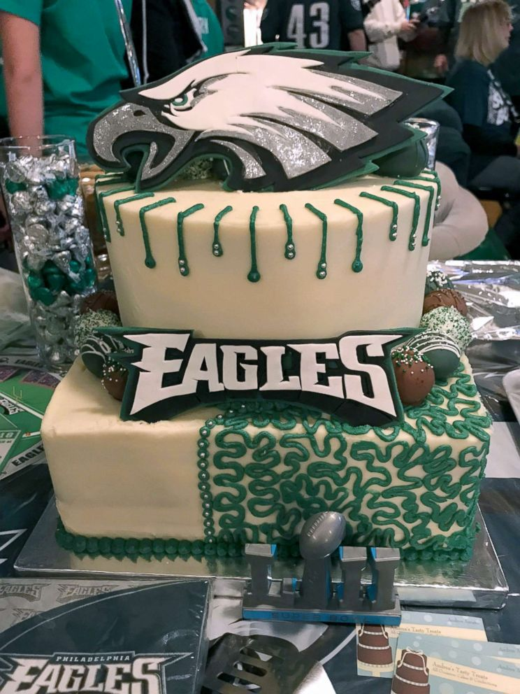 Super Fan Behind Philadelphia Eagles Man Cave Preps For