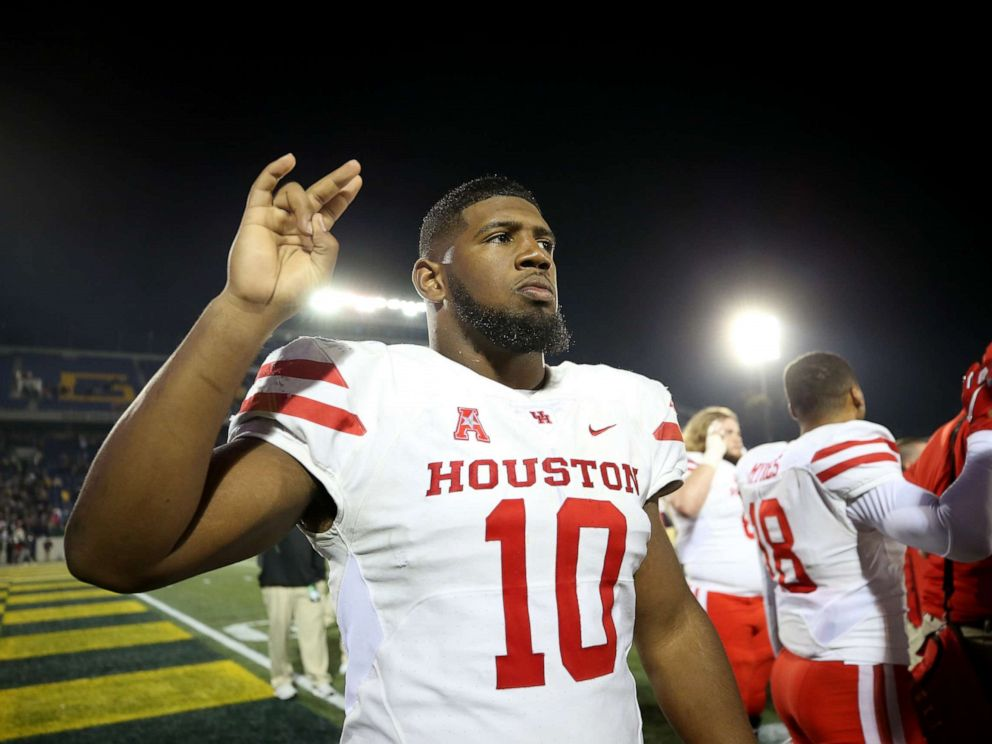 driving  street PHOTO: Ed Oliver of the Houston Cougars looks on after the Houston Cougars defeated the Navy Midshipmen at Navy-Marines Memorial Stadium on Oct. 20, 2018 in Annapolis, Md.