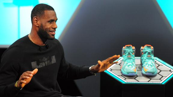 the latest 715ef 355aa LeBron James unveils latest shoe