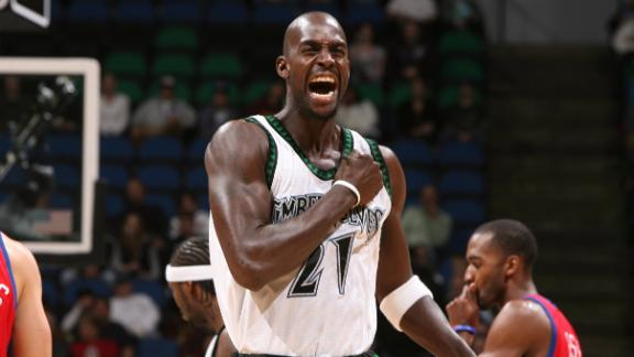 a7182b57b23 Rookie Watch  The Cruel Tutelage of the Wolves  Kevin Garnett - ABC News