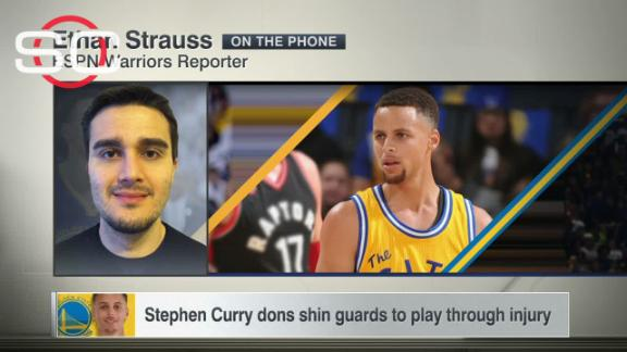 best loved a6025 b0a20 Stephen Curry turns to soccer gear to protect shin - ABC News