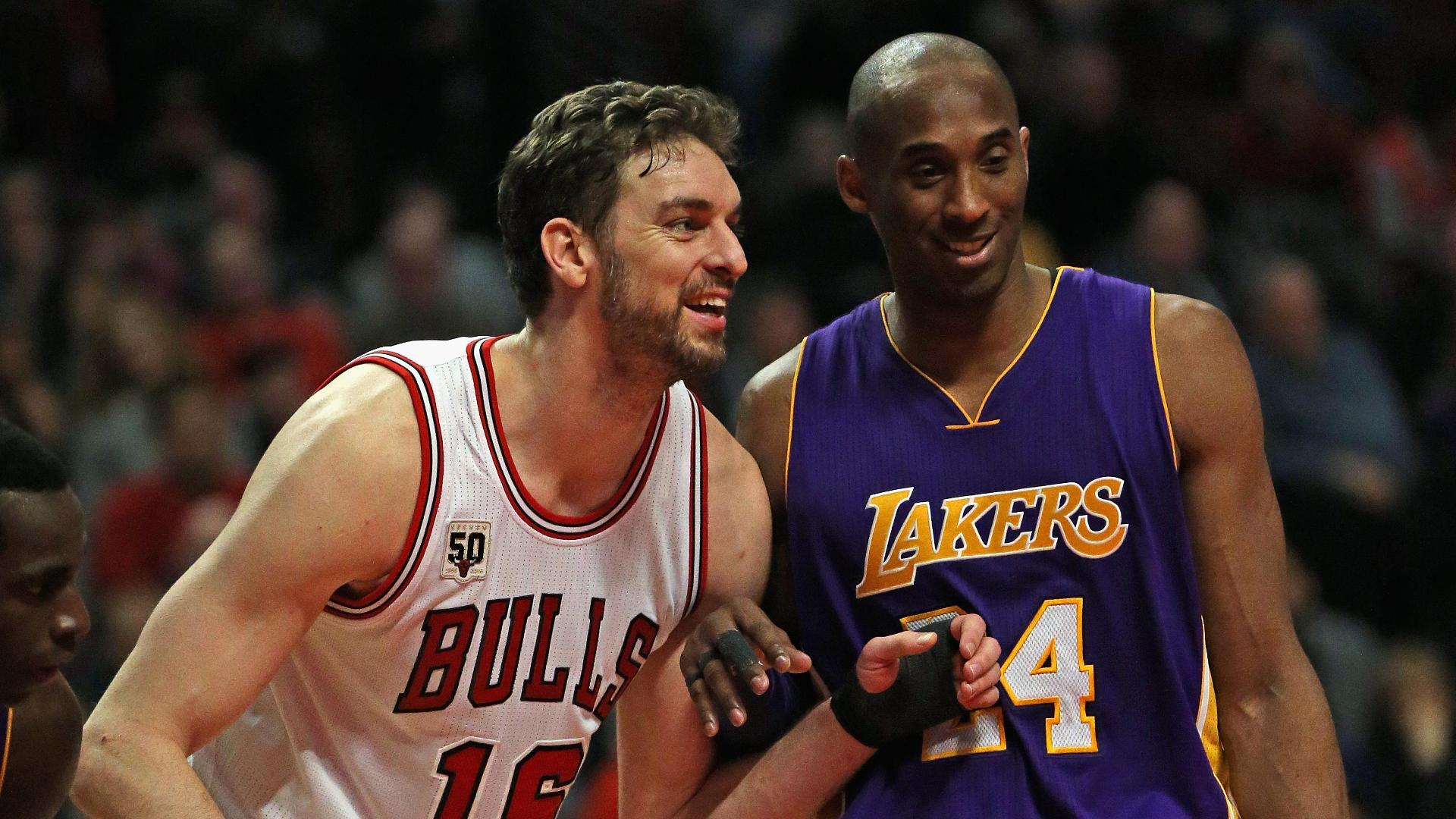 3173a1a0252d Bulls beat Lakers 126-115 to spoil Kobe s Chicago farewell - ABC News