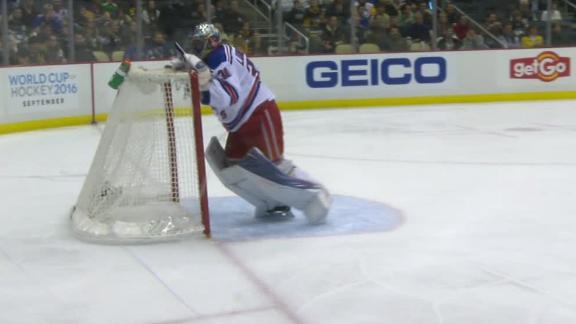 Henrik Lundqvist Loses Cool Tosses Net In Frustration As Rangers