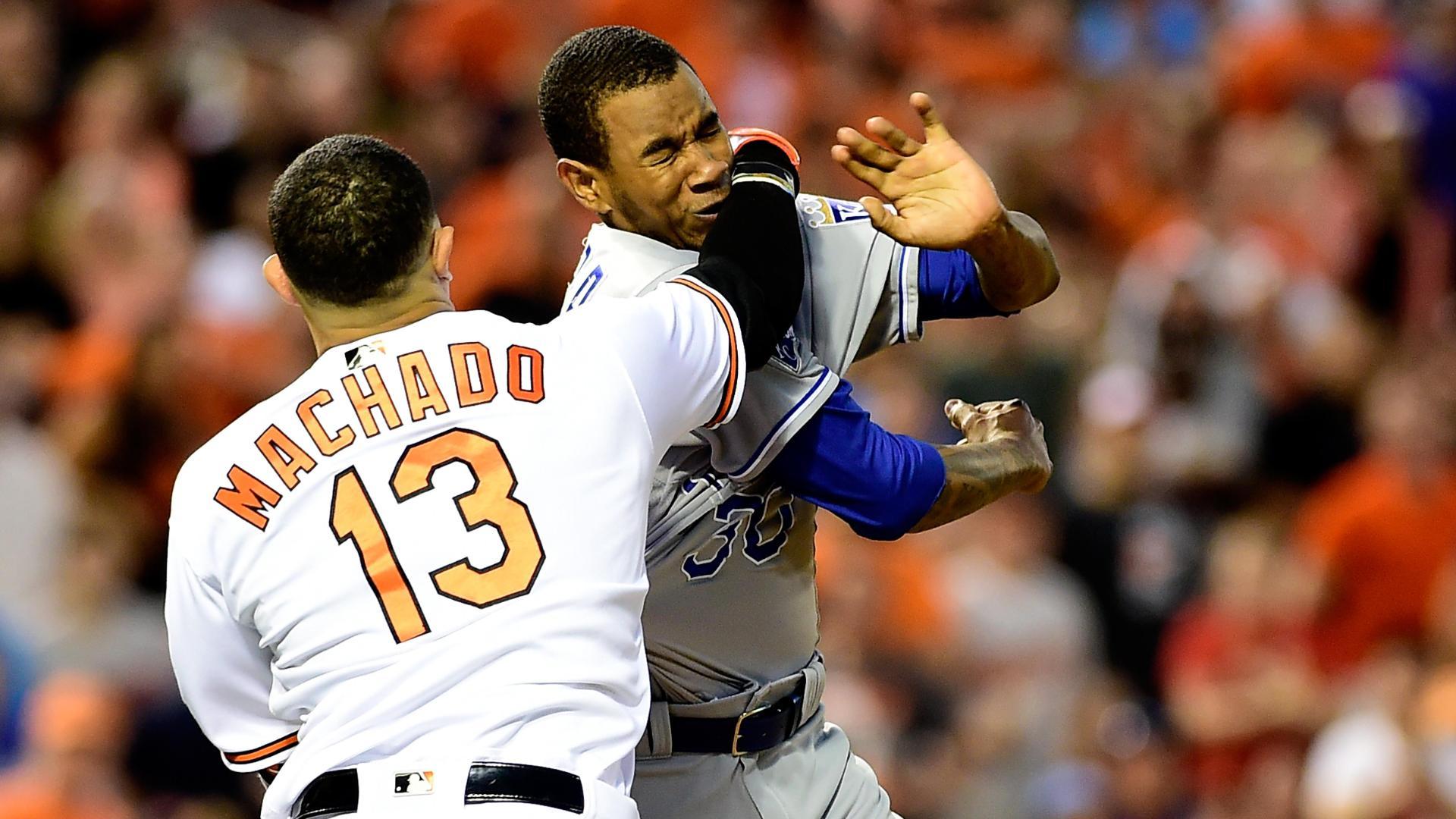 Adam Jones 91514 AP FTR Jpg Source Manny Machado Yordano Ventura Each Appealing MLB Penalties ABC News