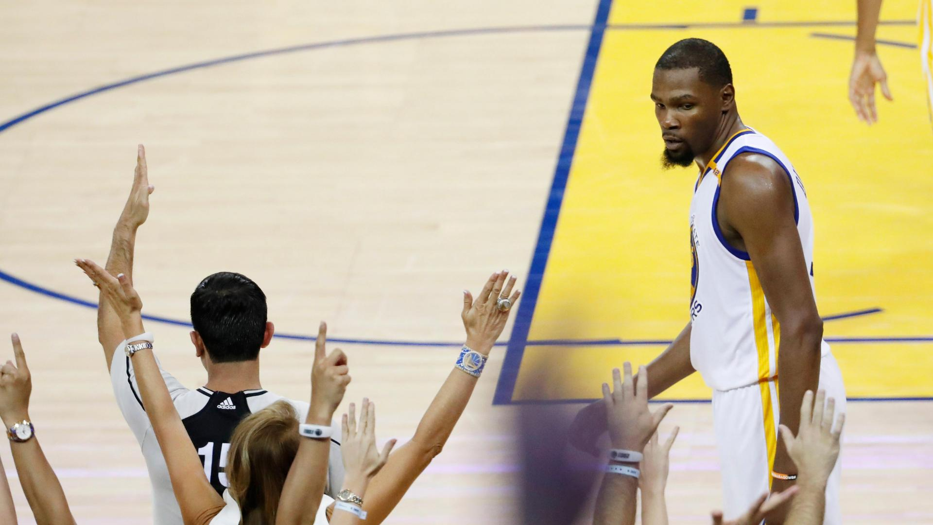 a9551666eb7c Kevin Durant says he doesn t remember Rihanna staredown - ABC News