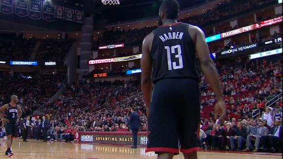57e2368d0a8c James Harden out at least two weeks with hamstring strain - ABC News