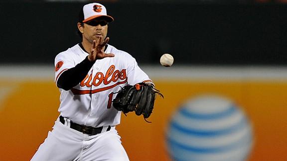 Second basemen Brian Roberts #1 of the Baltimore Orioles