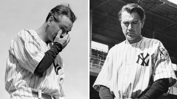 Lou Gehrig and Gary Cooper