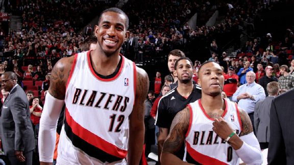Damian Lillard and LaMarcus Aldridge
