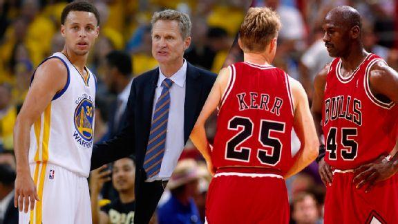 Steve Kerr, Stephen Curry, Michael Jordan