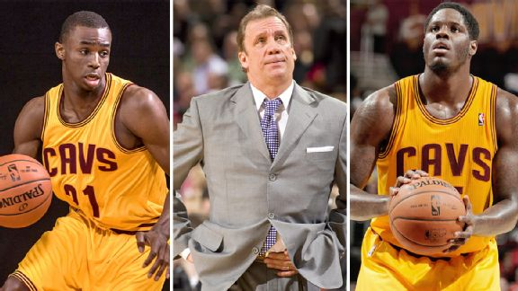 Andrew Wiggins, Flip Saunders and Anthony Bennett