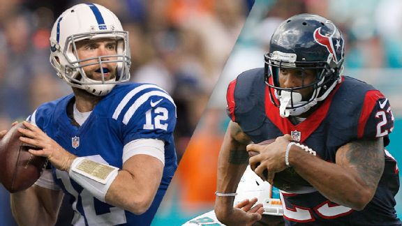 Andrew Luck and Arian Foster