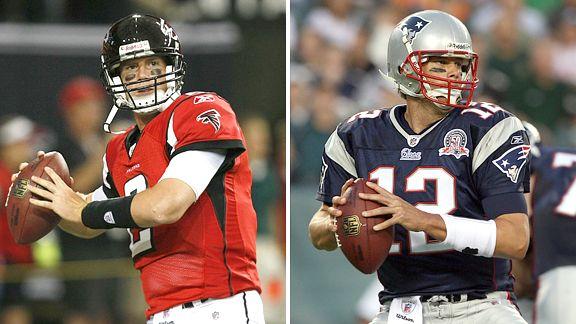 Matt Ryan and Tom Brady