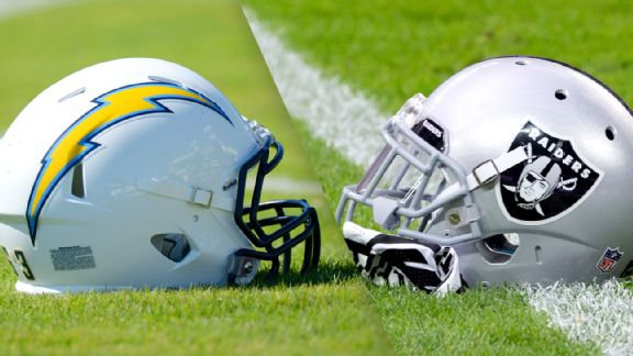 Chargers and Raiders