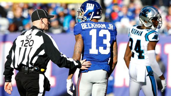 Odell Beckham and Josh Norman