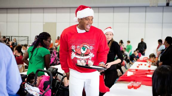hot sale online b0c3f 7b18c Cam Newton's passion for helping kids is real - ABC News
