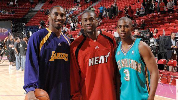 4bfec75140df Toasting the Mamba  All-Star trio honors Kobe Bryant - ABC News