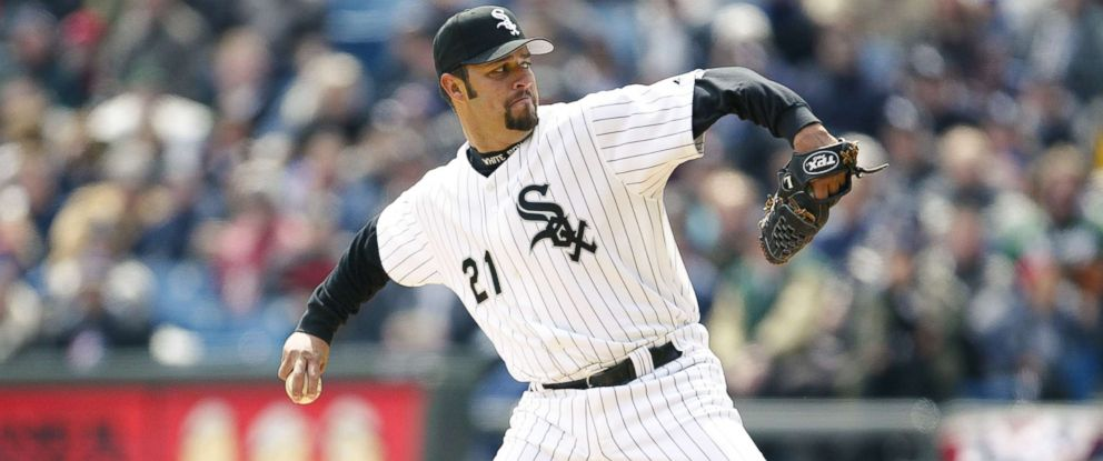 PHOTO: Esteban Loaiza of the Chicago White Sox on the mound during the game against the Kansas City Royals on April 13, 2004, in Chicago.
