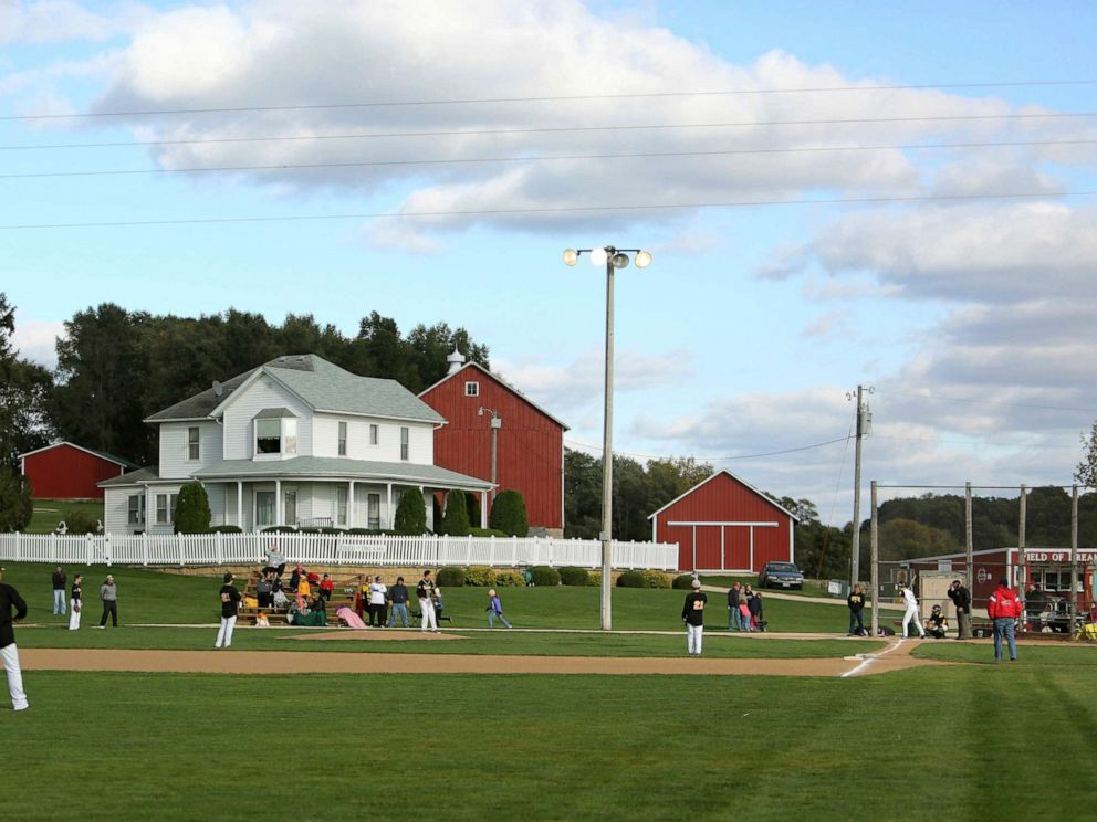 PHOTO: In this Oct. 2, 2014, file photo, teams play at the Field of Dreams during a fall tournament in Dyersville, Iowa.