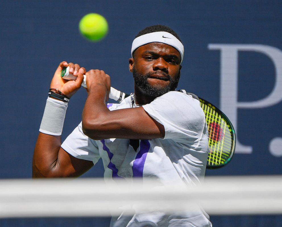 PHOTO: Frances Tiafoe at the 2019 U.S. Open tennis tournament at USTA Billie Jean King National Tennis Center, Aug. 29, 2019.