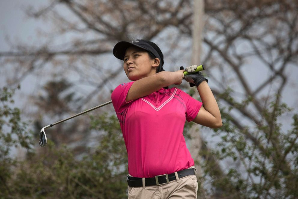 PHOTO: Pratima is often the only female golfer in Nepals tournaments.