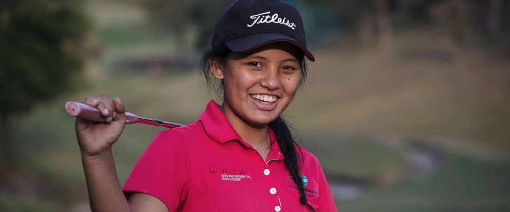 PHOTO: Pratima Sherpa wants to become Nepals best golfer.