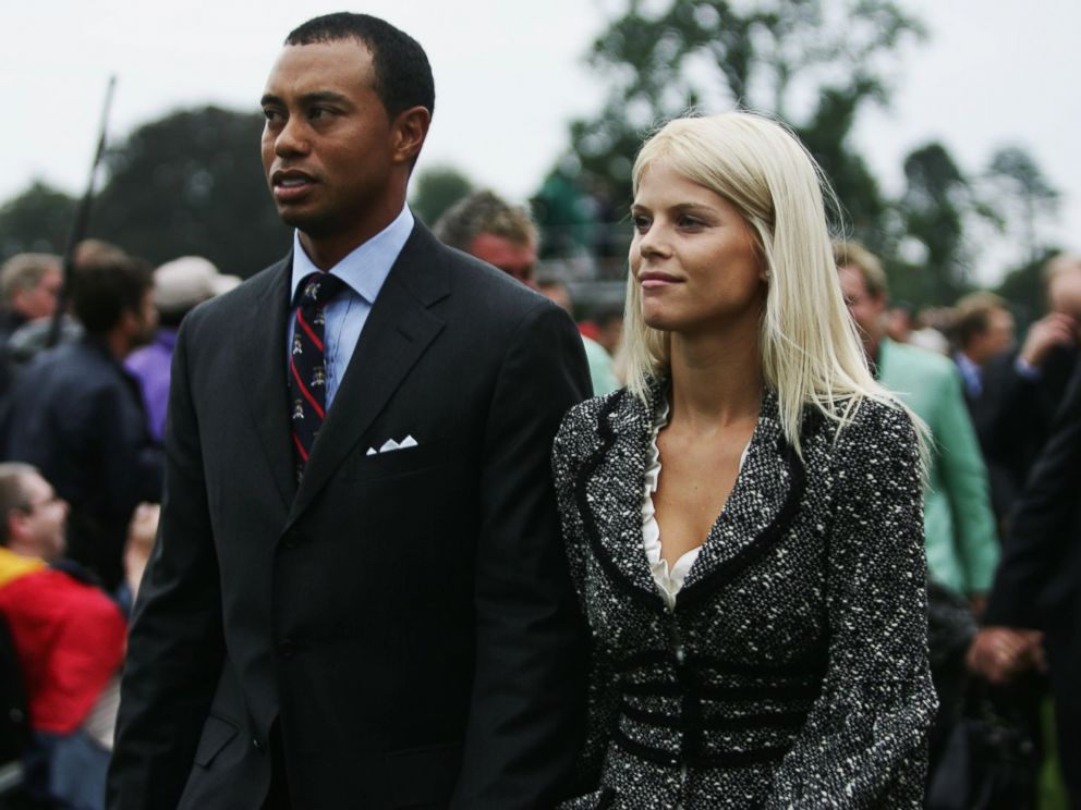 PHOTO: Tiger Woods and his wife Elin look on during the Opening Ceremony of the 2006 Ryder Cup at The K Club, Sept. 21, 2006, in Straffan, Co. Kildare, Ireland.