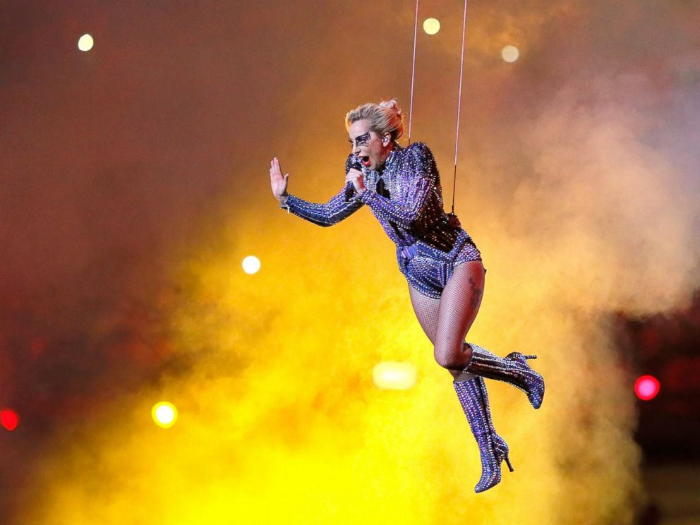 PHOTO: Lady Gaga performs during the Pepsi Zero Sugar Super Bowl 51 Halftime Show at NRG Stadium on Feb. 5, 2017 in Houston.