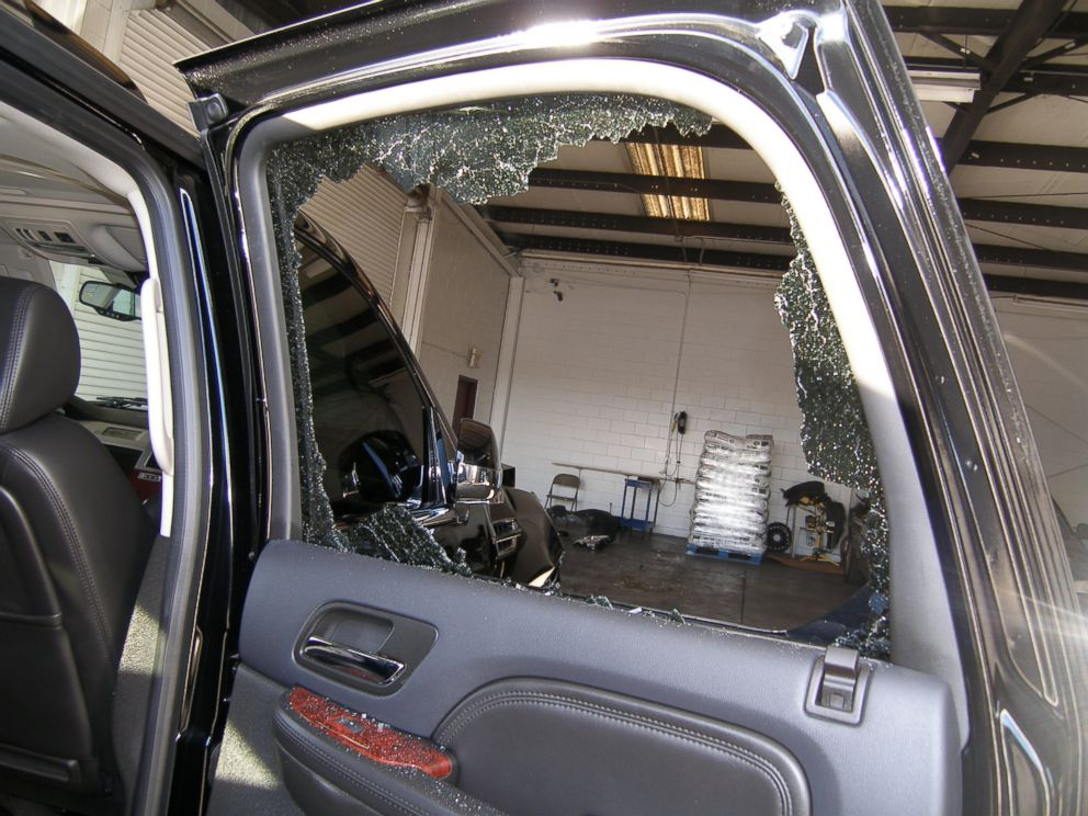 PHOTO: A broken window from the vehicle driven by Tiger Woods during his accident is seen in Orlando, Fla., Dec. 2, 2009. Woods crashed the SUV into the fire hydrant and tree next to his Florida home in the early hours of Nov. 27.