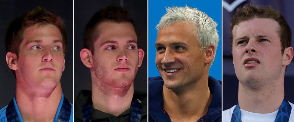 PHOTO: U.S. Olympic swimmers Jimmy Feigen, Gunnar Bentz, Ryan Lochte and Jack Conger claim they were robbed while in Rio de Janeiro, Brazil for the 2016 Olympics.