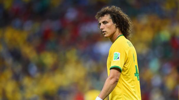 PHOTO: David Luiz of Brazil looks on during the 2014 FIFA World Cup Brazil Group A match between Brazil and Mexico at Castelao on June 17, 2014 in Fortaleza, Brazil.